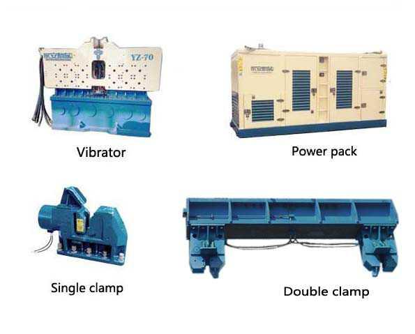 Гидравлический вибропогружатель YZ-230-Yongan Vibro